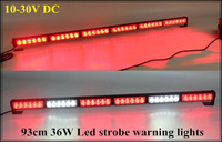 Higher star 10 30V DC 36W Led strobe warning lights,Led emergency light bar for police ambulance fire truck,waterproof