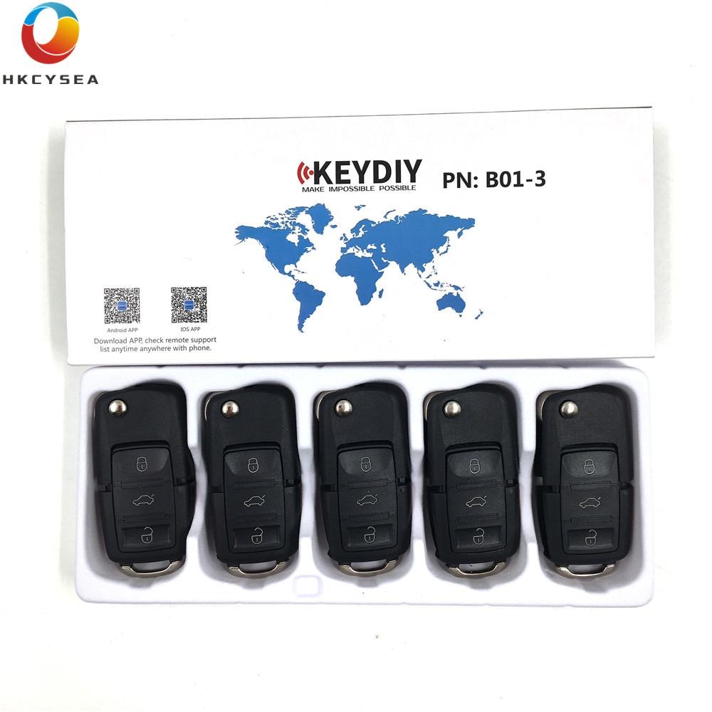 HKCYSEA 5PCS LOT 3 Buttons Remote Key B01 3 for KD900 KD900 URG200 KD X2 Key