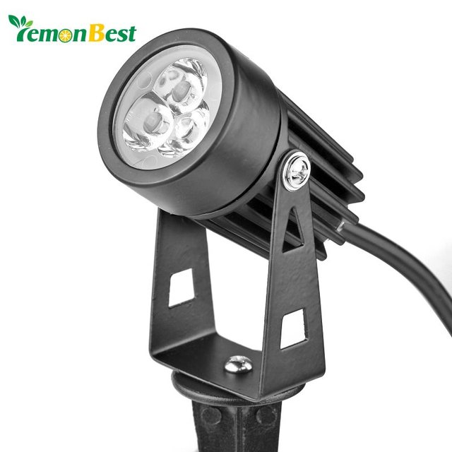 Us Plug 3w Led Mini Lawn Garden Flood Light Yard Patio Path Spotlight Lamp Waterproof Warm