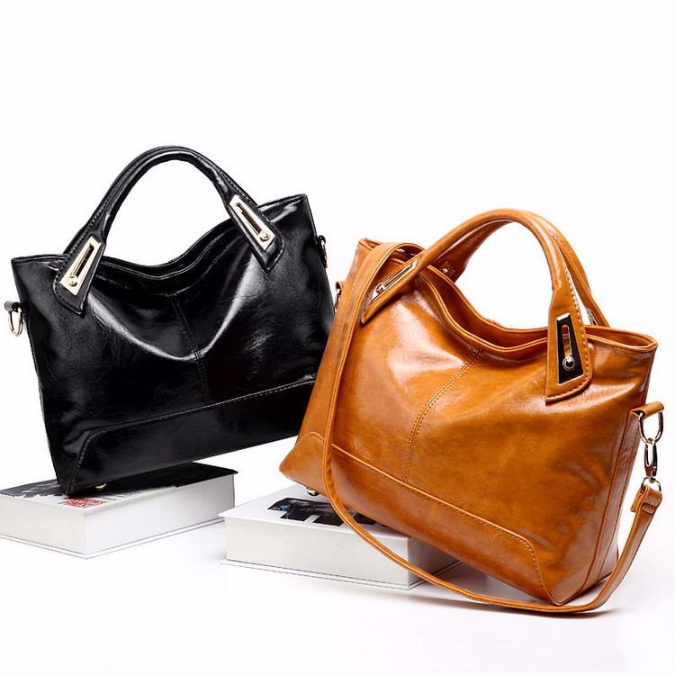 Women Oil Wax Leather Designer Handbags High Quality Shoulder Bags Ladies Handbags Fashion brand PU leather women bags WLHB1398 7