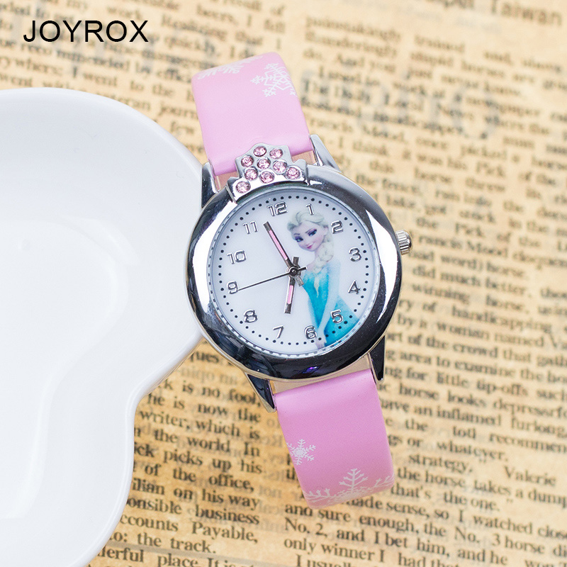 JOYROX Hot Princess Elsa Mønster Barn Watch Mote Crystal Cartoon - Barneklokker - Bilde 2