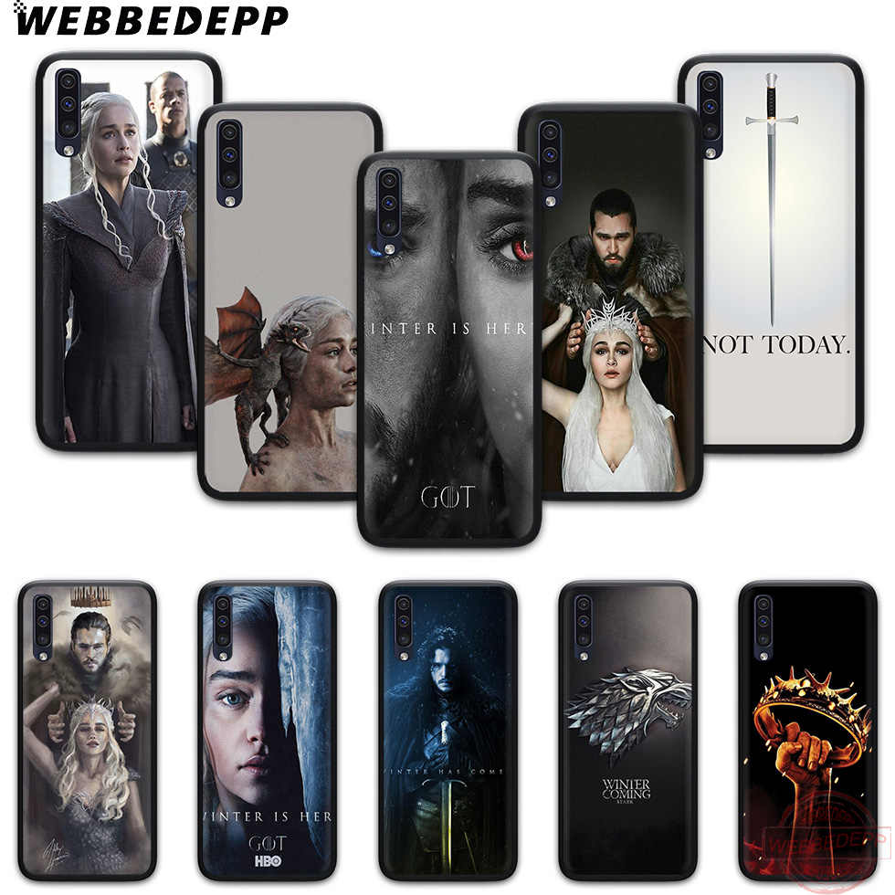 WEBBEDEPP Game of Thrones Jon Snow Soft حقيبة لهاتف سامسونج A3 5 6 7 8 9 J6 A10 A20 A30 A40 A50 A60 A70 M10 M20 M30 M40