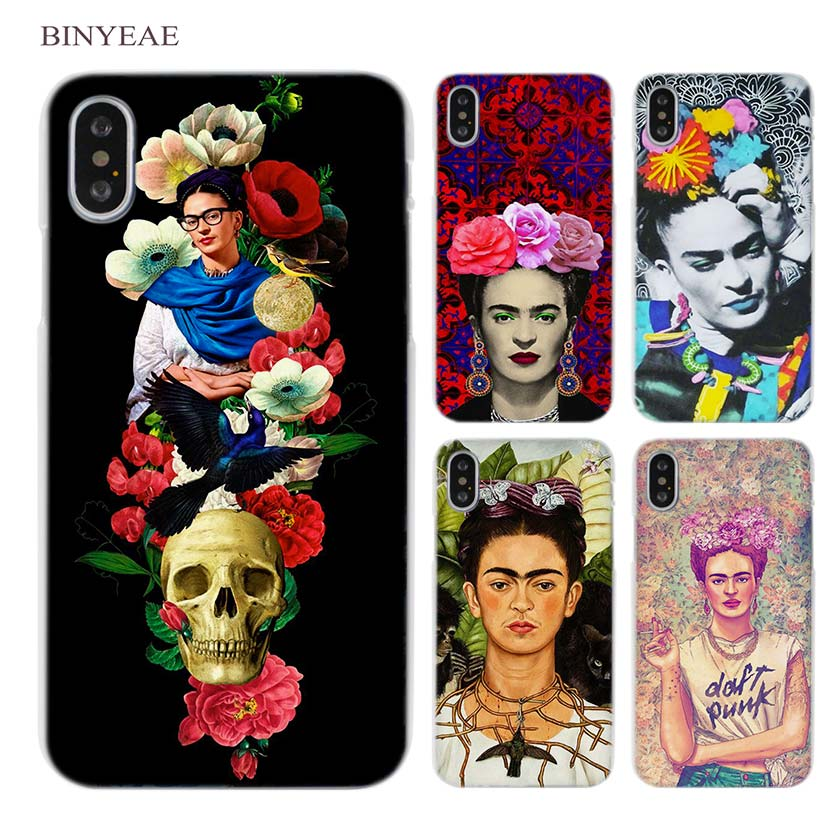 BINYEAE Frida Kahlo art Clear Cell Phone Case Cover for Apple iPhone X 6 6s 7 8 Plus 4 4s 5 5s SE 5c