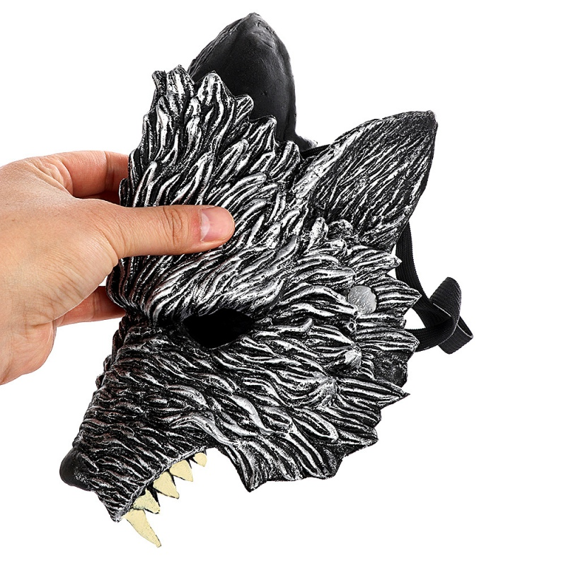 Halloween 3D Wolf Mask Party Masks Cosplay Horror Wolf Masque Halloween Party Decoration Accessories 4