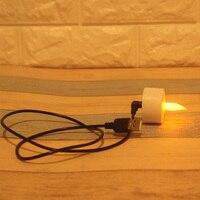 Carga USB, paquete de 2 Led recargable sin llama vela de té con carga USB, votivas eléctricas romántica boda cumpleaños bar