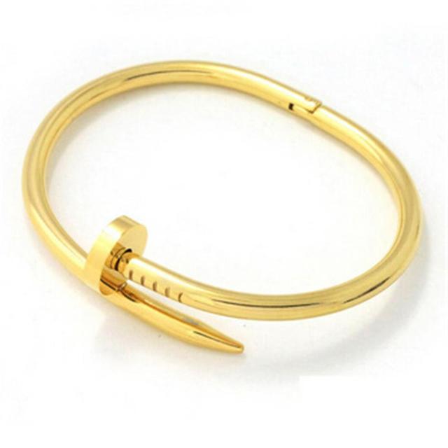 Women's Nail Bangle Bracelet