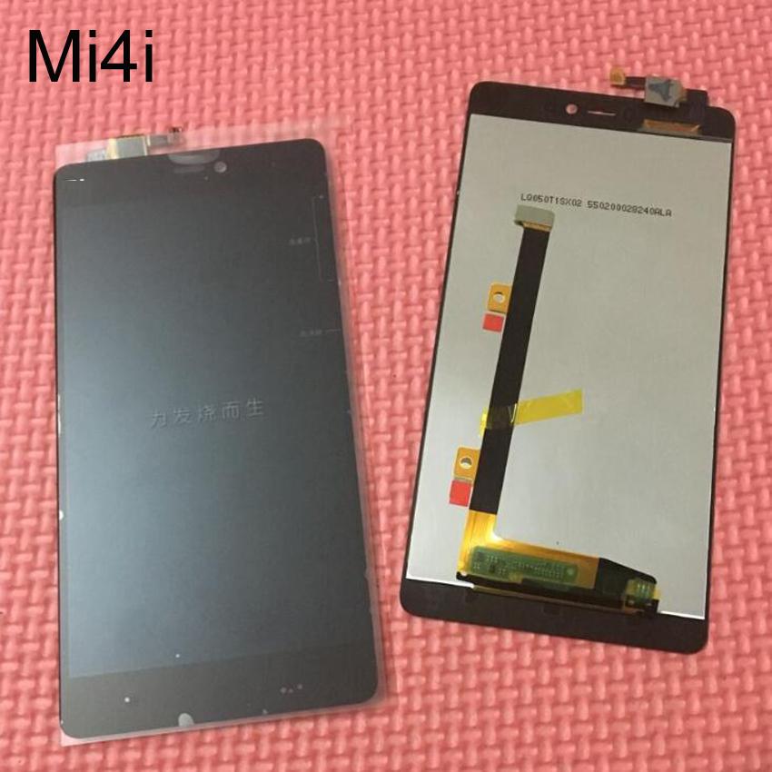 Prix pour Noir Haute Qualité de Travail LCD Affichage à L'écran Tactile Digitizer Assemblée Pour Xiaomi Mi4i Mi 4i M4i Pièces De Rechange 100% Testé