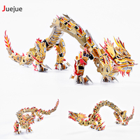 New Arrival D004 3D Puzzle Paper Chinese Dragon Jigsaw Puzzle Toys For Children Diy Handmade Paper