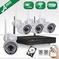 ANRAN HD 4CH Wi-Fi NVR 720 P Системы ВИДЕОНАБЛЮДЕНИЯ Водонепроницаемый Открытый Ночного Видения Видеонаблюдения Комплект 1 ТБ HDD Выбор