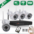 ANRAN HD 4CH Wifi NVR 720P CCTV System Waterproof Outdoor Night Vision Security Surveillance Kit 1TB HDD Selectable