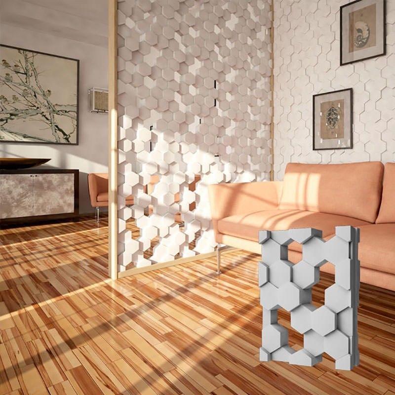 """2 Stücke 3d Kunststoff Form Für Gips 3d Dekorative Wand Block Panels """"mesh"""" Neue Form Design 2017 Jahr"""