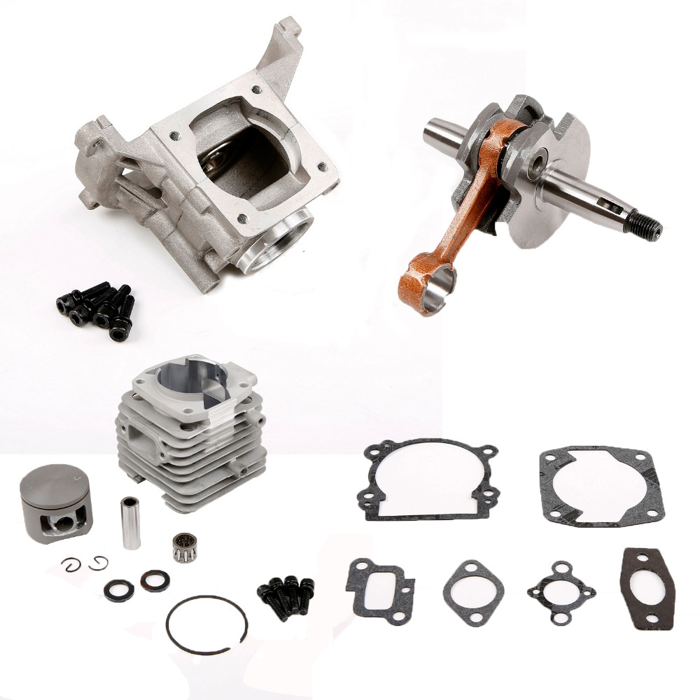 45cc engine cylinder kit fit 45cc Motor Gas Engine for 1/5 hpi rovan km baja losi DBXL rc car parts piston kit 36mm for hpi baja km cy sikk king chung yang ddm losi rovan zenoah g290rc 29cc 1 5 1 5 r c 5b 5t 5sc rc ring pin clip