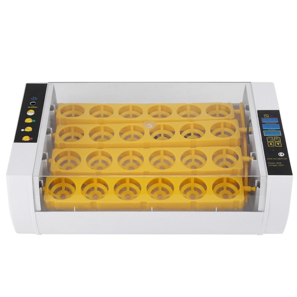 24 jaja inkubator kontroli temperatury cyfrowy automatyczny węźba do temperatury w celu kaczki kurczaka drobiu ue wtyczka w Produkty do nawożenia i nawadniania od Dom i ogród na  Grupa 1