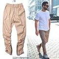 khaki jogger Pants Casual Skinny Zipper bottoM Sweatpants Solid Hip Hop Trousers Jogging Pants Men Joggers Slimming pants