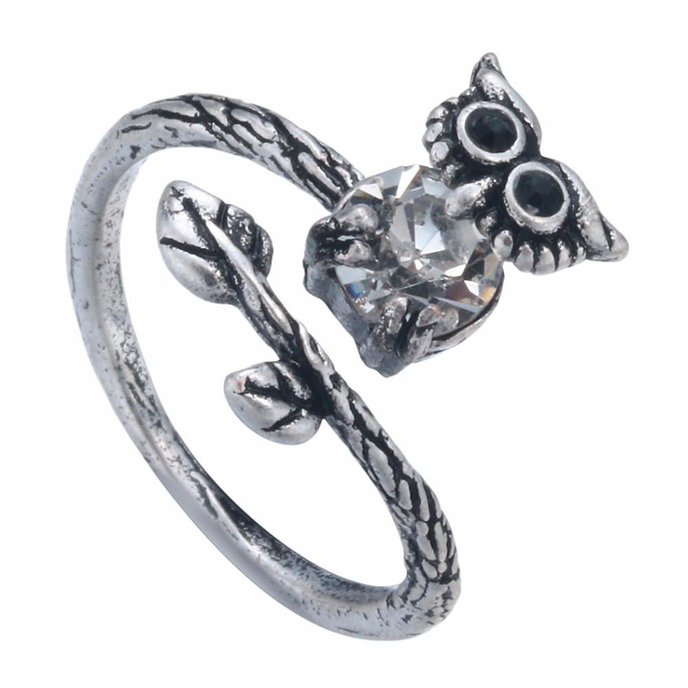 Kinitial New Owl Wrap Rings For Women And Men Nose Wedding Rings