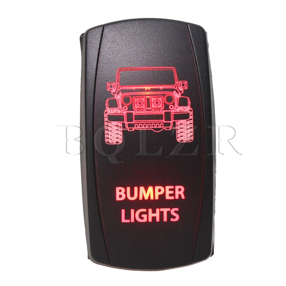 BQLZR DC12V-24V 7 pin Momentary ON-OFF-ON Rocker Switch Red  Bumper  for Yach bprd hell on earth v 7