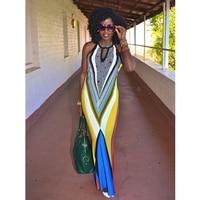 Sexy Summer Woman Dress 2015 Fashion Lady Female Clothes Long&Maxi Fashion Print Sleeveless Dress With S M L XL Sizes L51220