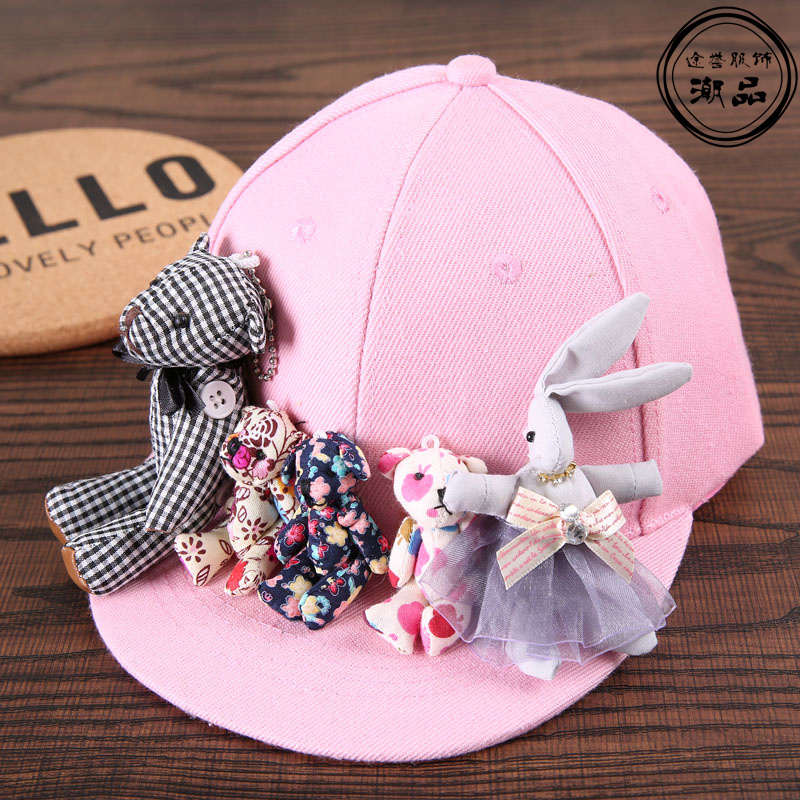 baseball hats for big heads uk fashion cartoon bear rabbit girls caps kids font trendy handmade sun wholesale philippines pets