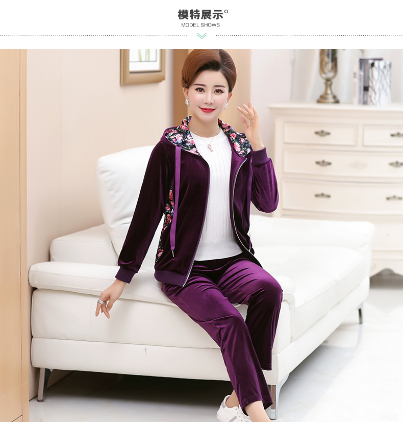 WAEOLSA Woman Casual Tracksuit Women Hooded Jacket And Trouser 2 Pieces Suit Pleuche Set Lady 2PCS Pant Set Velvet Ensemble Femme (13)