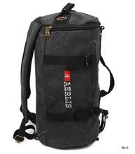 Men's Canvas Military Backpacks Vintage Shoulder Bag Multi-purpose Bagpack Bookbag Rucksack Male Schoolbag Laptop Travel Satchel