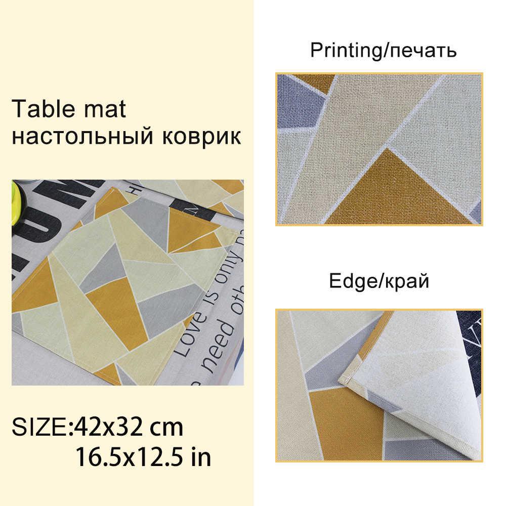 Rectangulaire motifs géométriques serviette tissu cuisine torchon serviettes en lin serviettes de Table serviette de Table tissu mariage papier décoratif