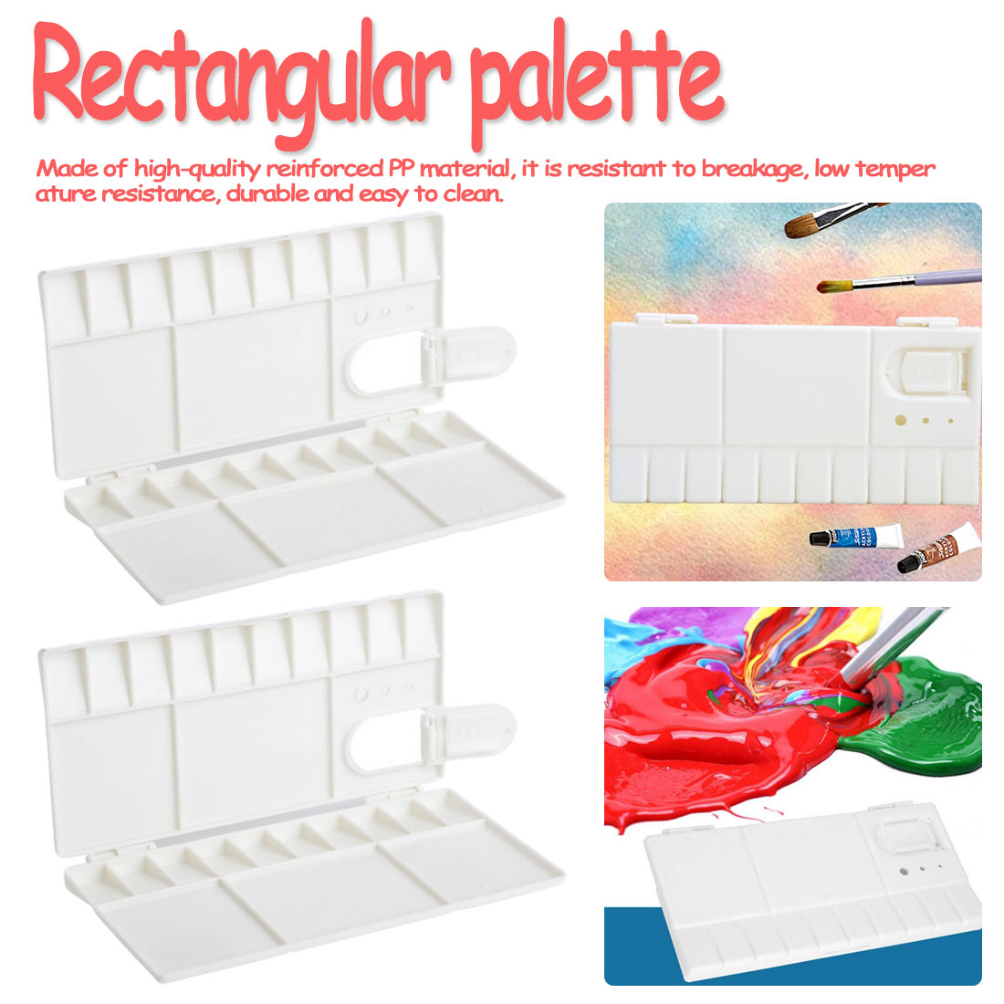 25 Grids Palette Empty Watercolor Paints Tins Box With Full Pans Half Pans For Art Gouache Acrylic Painting Art Supplies