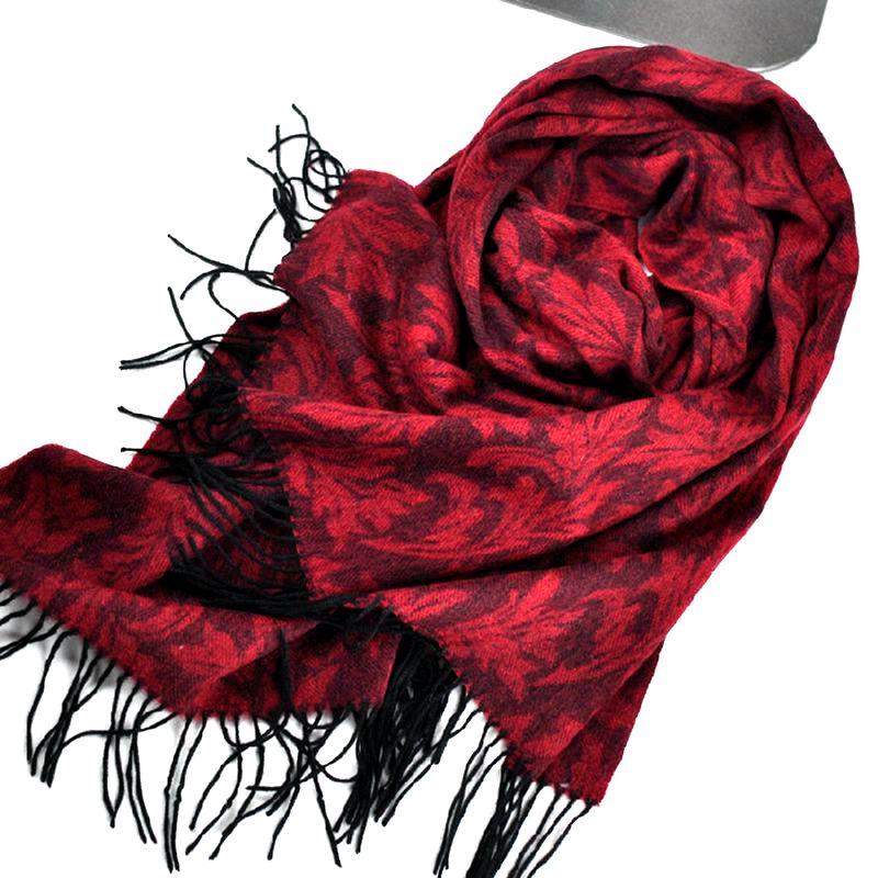 С цветочным принтом зимний шарф 2017, г женская обувь утолщаются 330 г 100% шерсть шарфы для женщин и обертывания шаль накидка модные теплые
