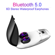E8 TWS Mini Earphone Bluetooth 5.0 Headset 6D Stereo Noise Cancelling True Wireless Earbuds Touch Control Earphones Hands free