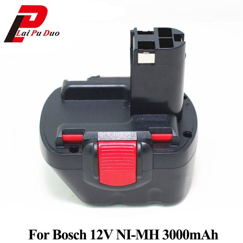 For Bosch 12v 3000mah NI-MH Rechargeable Replacement Cordless Drill Battery BAT043,BAT046,BAT049,BAT120,BAT139 PSR PSR 12V 3.0Ah