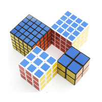 4 PCS 2x2x2 3x3x3 4x4x4 Magic Speed Cube Educational Learning Toys For Children Gift Magico Cubo Finger Toys Puzzle Speed Cube