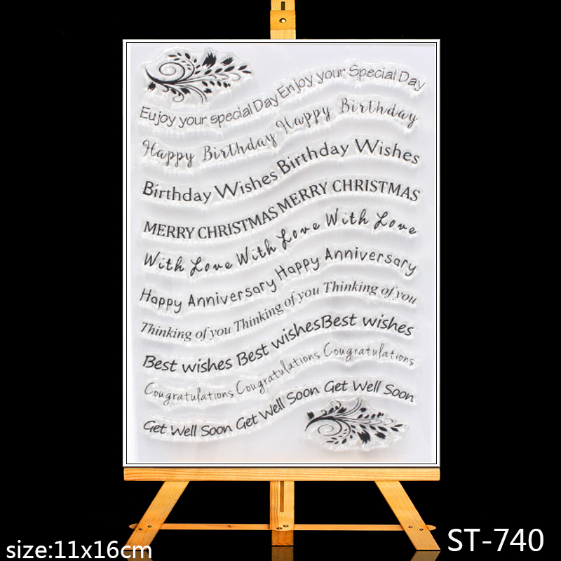 ZhuoAng Holiday greeting Clear Stamps/Card Making decorations For  scrapbooking Transparent stamps 11*16cm