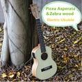 Soprano Concert Tenor Acoustic Electric Ukulele 21 23 26 Inch Mini Guitar Ukelele Guitarra Picea Asperata Zebra Wood Plug-in Uke