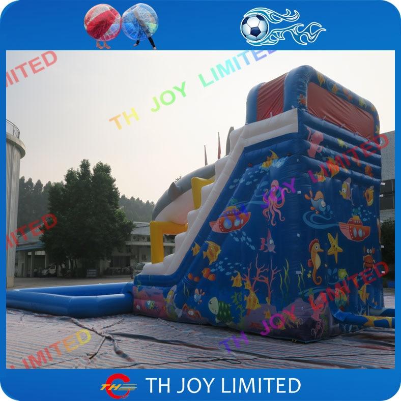 b012272603c7bd Goedkope prijs 0.55mm pvc zeildoek 8x4x6.5 m grote opblaasbare haai glijbaan,  opblaasbare zwembad glijbaan, giant opblaasbare glijbaan voor kinderen in  ...
