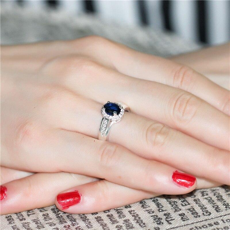 2016 модный серебро роскошный синий камень циркон любовь леди кольцо  многоцветная Женская День Святого Валентина Подарки для женщин Bague Femme  PJ138 ... 616dbf809eec3