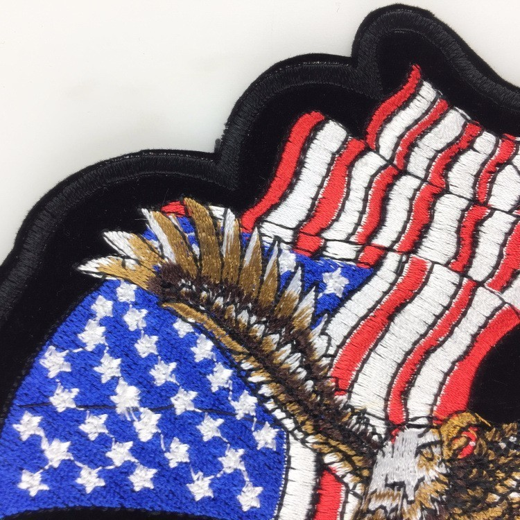 fd58af1d PGY Clothing Accessories American Eagle Army Badge Punk Rock Bike Patch  Large Embroidery Biker Patch Motorcycle Clothes Patch