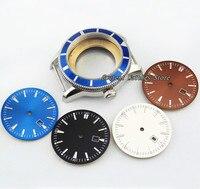 46mm 무균 스테인레스 스틸 시계 케이스 적합 ETA 2836 Mingzhu 2813/3804 무브먼트 손목 시계 쉘