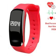 Newyes NBS03 Fashion Red Smart Health Bracelet Blood Pressure Heart Rate and Sleep Monitor Smart Watch