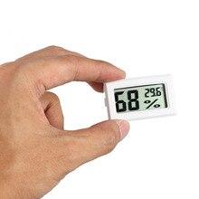 Мини цифровой ЖК-датчик температуры измеритель влажности термометр гигрометр измерительный датчик белый/черный