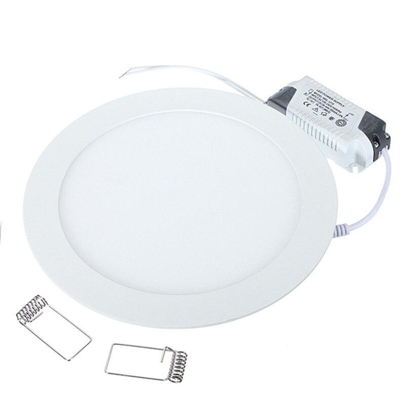 1 יח'\חבילה Dimmable Ultra דק 3 w/4 w/6 w/9 w/12 w/ 15 w/25 w LED תקרה שקוע רשת לוח אור דק סיבוב לוח אור