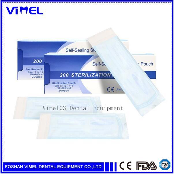 Oral Hygiene Dental Self Seal Sterilization Pouches Medical Bag Sterilization Bags 200pcs /box