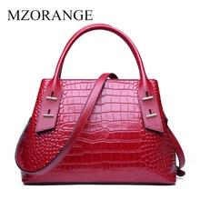 MZORANGE Genuine Leather Luxury Handbags Women Bags Purse Fashion Red Crossbody for women 2019