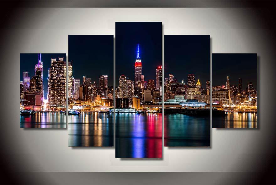 Gerahmte Gedruckt brooklyn manhattan new york Malerei kinderzimmer dekor druckplakat bild leinwand...