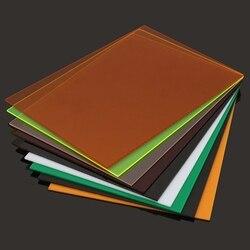 A4 210x297x3 мм прозрачные акриловые (ПММА) листы из оргстекла тонированные/плексигласовая пластина/акриловая пластина черный/белый/красный/зел...