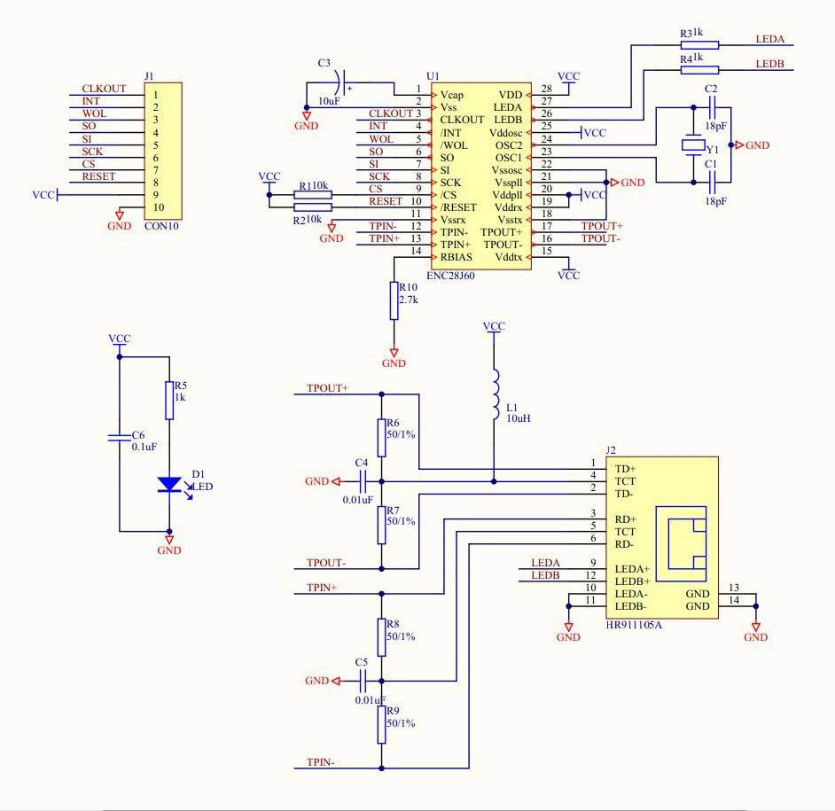 hight resolution of picture 2 of enc28j60 ethernet lan network module schematic for for arduino 51 avr lpc