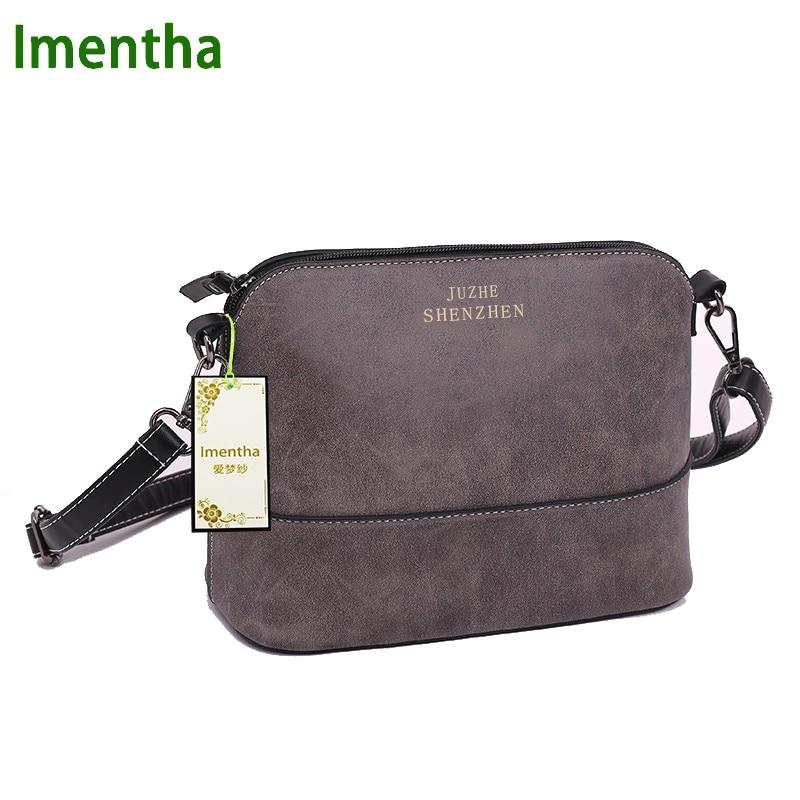 26x11cm Fashion Women Bag gray women Shoulder Bags female bag Vintage suede smal