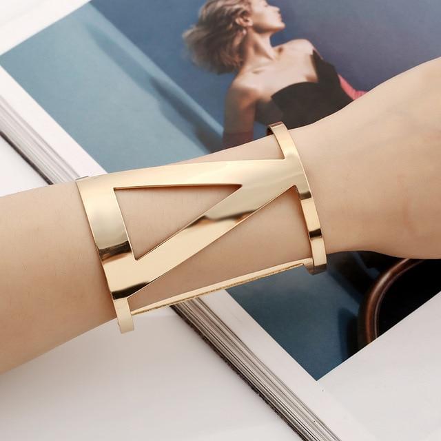 Find me 2017 mode vintage courbe ethniques manchette bracelet boho déclaration bracelets lettre bracelets bracelets femmes bijoux en gros
