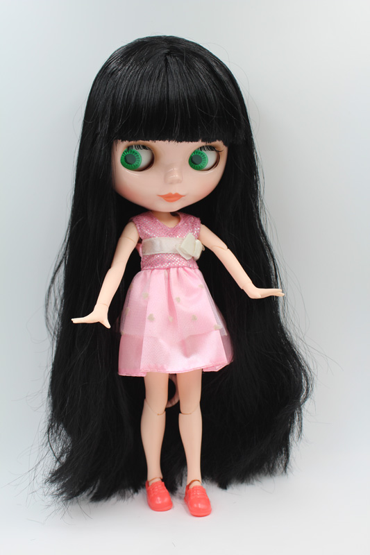 Free Shipping BJD joint RBL-216J DIY Nude Blyth doll birthday gift for girl 4 colour big eyes dolls with beautiful Hair cute toy free shipping cheap rbl no 1 7 diy nude blyth doll birthday gift for girls 4 colour big eyes dolls with beautiful hair cute toy