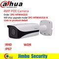 Dahua wdr 4mp hfw4421e tem sido atualização original por ipc-hfw4431e-s fixo lens3.6mm ir40m câmera ip bala à prova d' água ip67