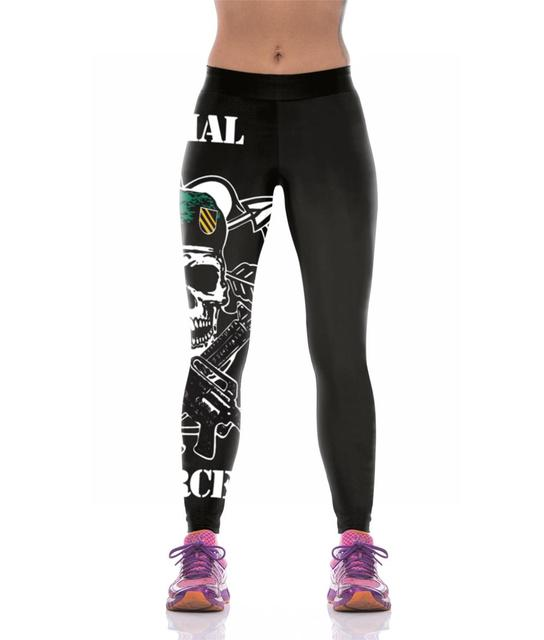 5d39617df29bd Sexy Printed Sporting Leggings Women High Elastic Wide Band Waist 3D Gothic Leggings  Designs Foot-Ball Pants