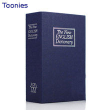 ФОТО exquisite piggy bank simulation english dictionary book safe box trumpet key lock deposit money box desk ornament christmas gift